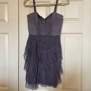 BCBG Purple Tulle Tiered Corset dress